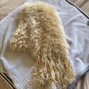 Fuzzy Creamish Beige Scarf